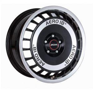 Ronal R50 Aero Black Front Diamond Cut angle 2000