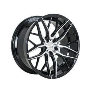 1AV ZX11 Black Polished Face alloy wheel