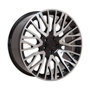 Velare VLR01 Diamond Black Polished Face angle 1 1800 alloy wheel