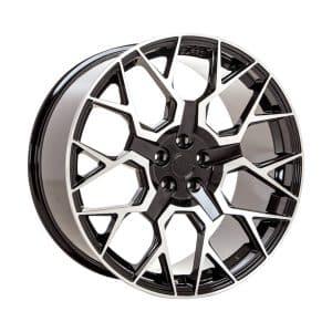 Velare VLR02 Diamond Black Polished Face angle 1 alloy wheel