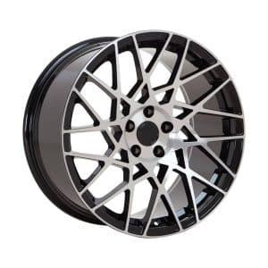 Velare VLR03 Diamond Black Polished Face angle 1 alloy wheel