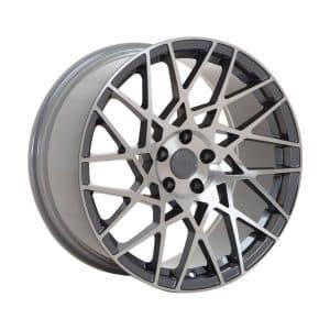 Velare VLR03 Platinum Grey Polished Face angle 1 alloy wheel