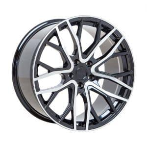 Velare VLR08 Diamond Black Polished Face angle 1 alloy wheel