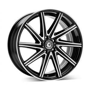 Wrath WF2 black polish angled alloy wheel