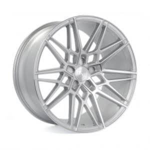 Axe CF1 Gloss Silver Polished Face angle 1 alloy wheel