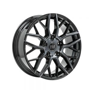 1AV ZX11 Transit Black Polish Tinted alloy wheel