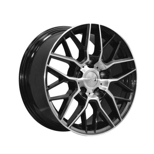 1AV ZX11 Transit Black Polished Face alloy wheel