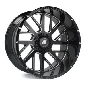 Axe AX2 Gloss Black angle 1 alloy wheel