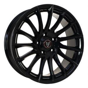 Wolfrace Aero Gloss Black alloy wheel