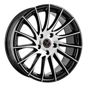 Wolfrace Aero Gloss Black Polished alloy wheel