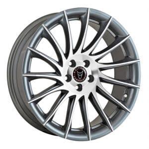 Wolfrace Aero Gunmetal Polished alloy wheel