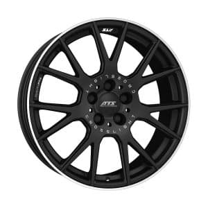 ATS Crosslight Racing Black Polished alloy wheel