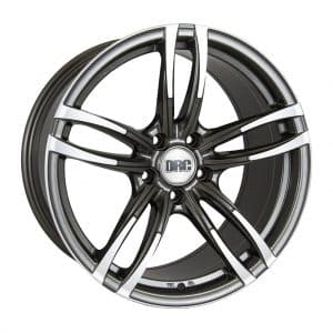 DRC DMF Gunmetal Polished face alloy wheel