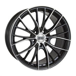 DRC DMM Black Polished face alloy wheel