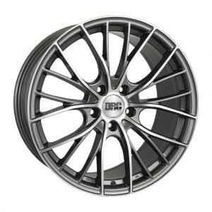 DRC DMM Gunmetal Polished face alloy wheel