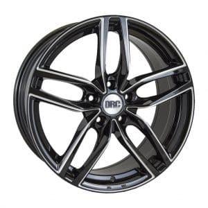 DRC DRS Black Polished face alloy wheel