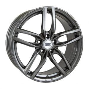 DRC DRS Gunmetal Polished face alloy wheel