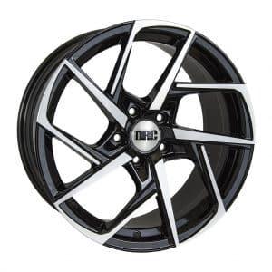 DRC DVX Black Polished face alloy wheel