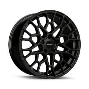 Supermetal Cell Gloss Black angle 1 alloy wheel