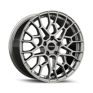Supermetal Cell Hyper Silver angle 1 alloy wheel