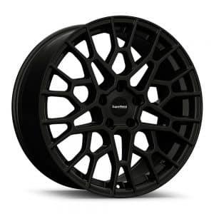 Supermetal Cell Matt Black angle 1 alloy wheel