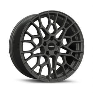 Supermetal Cell Ultra Matt Grey angle 1 alloy wheel