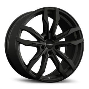 Supermetal Fin Matt Black angle 1 alloy wheel