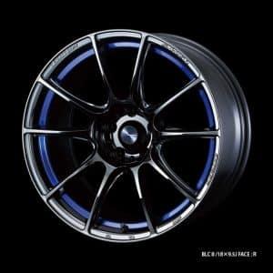 Weds Sport SA25R BLC II Blue Light Chrome II 18x9.5 Facetype R alloy wheel