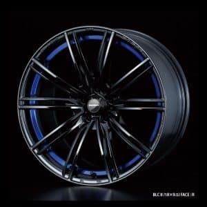 Weds Sport SA54R BLC II Blue Light Chrome II 18x9.5 Face R alloy wheel