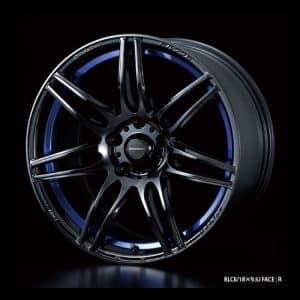 Weds Sport SA77R BLCII Blue Light Chrome II 18x9.5 Face R alloy wheel