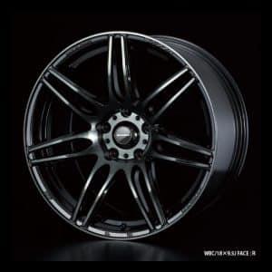 Weds Sport SA77R WBC Worth Black Clear 18x9.5 Face R alloy wheel