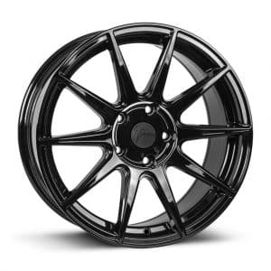 1Form Edition.3 Gloss Black and Black Cap Edition 3 EDT.3 alloy wheel