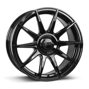 1Form Edition.3+ Gloss Black and Black Centre Band Edition 3+ EDT.3+ alloy wheel