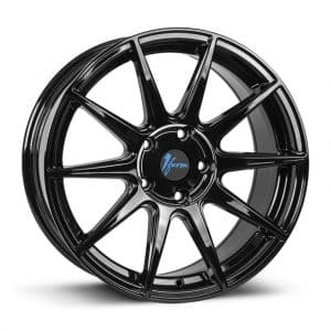 1Form Edition.3 Gloss Black and Blue Cap Edition 3 EDT.3 alloy wheel