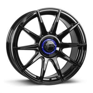 1Form Edition.3+ Gloss Black and Blue Centre Band Edition 3+ EDT.3+ alloy wheel