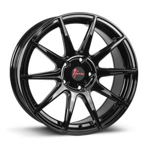 1Form Edition.3 Gloss Black and Red Cap Edition 3 EDT.3 alloy wheel