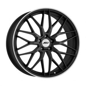 AEZ Crest dark Gunmetal Polished Lip 1024 1 alloy wheel