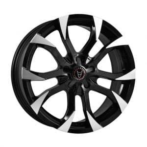 Wolfrace Assassin Black Polished alloy wheel