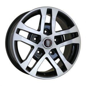 Wolfrace Assassin FTR Black Polished Face alloy wheel