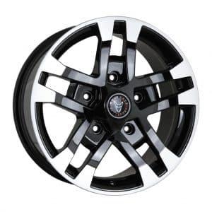 Wolfrace Assassin FTR Black Polished Tips alloy wheel