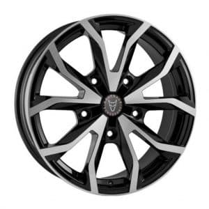 Wolfrace Assassin TRS Gloss Black Polished alloy wheel