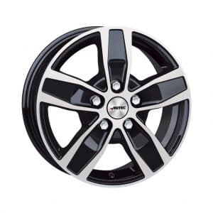 Autec Quantro Type Q Black Polished 5 studs 1024 alloy wheel
