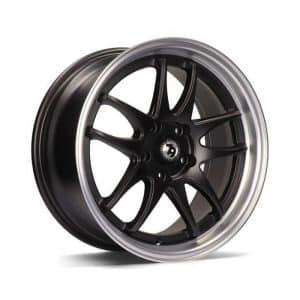 Seventy9 SV-I Matt Black Polished Lip alloy wheel