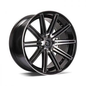 Seventy9 SV-M Black Polished Face alloy wheel