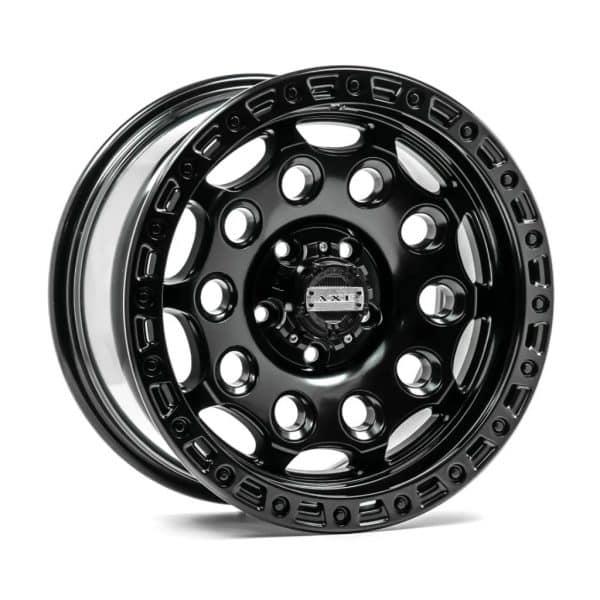 Axe AT4 Satin Black angle 1 alloy wheel