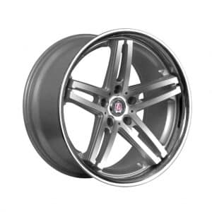 Axe EX11 Silver Polished Lip 1024 alloy wheel