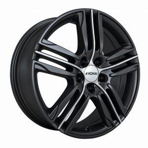 Ronal R57 Black Polished 1-Spoke angle 1024 alloy wheel
