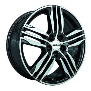 Ronal R57 Black Polished 3-Spoke angle 1024 alloy wheel