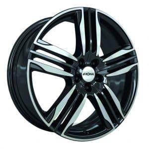 Ronal R58 Black Polished Face angle 1024 alloy wheel