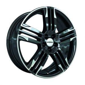 Ronal R58 Black Polished Rim angle 1024 alloy wheel